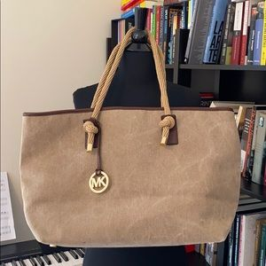 Michael Kors handbag. Hues of beige and brown